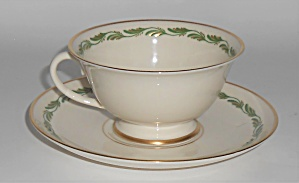 Franciscan Pottery Fine China Arcadia Green Cup/saucer