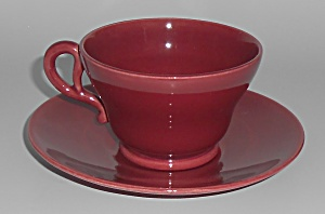 Franciscan Pottery El Patio Maroon Cup & Saucer Set
