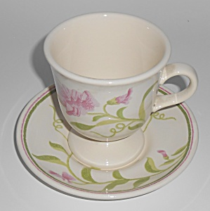 Franciscan Pottery Greenhouse Sweet Pea Cup/Saucer Set (Image1)