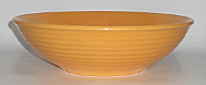 Bauer Pottery Ring Ware Yellow 12'' Salad Bowl