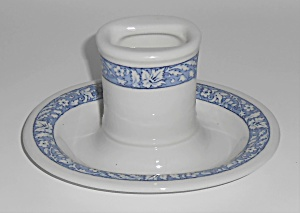 Shenango Restaurant Ware China Blue White Match Safe