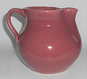 Zanesville Stoneware Pottery Gloss Rose #51 Wheel Throw