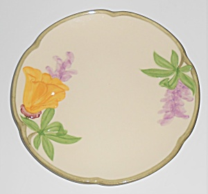 Franciscan Pottery Poppy Bread Plate (Image1)