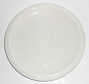 Franciscan Pottery Floral Sculptures White Lotus Lunch