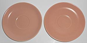 Franciscan Pottery Catalina Rancho Coral/Ivory Pair Sau (Image1)