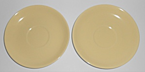 Franciscan Pottery Catalina Rancho Yellow/ivory Pair Sa