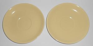 Franciscan Pottery Catalina Rancho Yellow/Ivory Pair Sa (Image1)