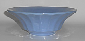 Bauer Pottery Hi-fire Delph Blue #209 Low Flower Bowl
