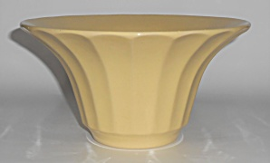 Bauer Pottery Hi-fire Yellow #211 Deep Flower Bowl
