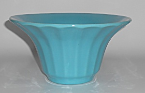 Bauer Pottery Hi-Fire Turquoise #211 Deep Flower Bowl (Image1)