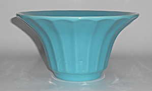 Bauer Pottery Hi-fire Turquoise #211 Deep Flower Bowl