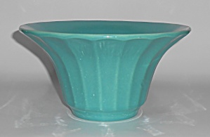 Bauer Pottery Hi-fire Jade #211 Deep Flower Bowl