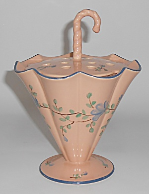 Franciscan Pottery Kaolena China Umbrella Coral w/Gold  (Image1)
