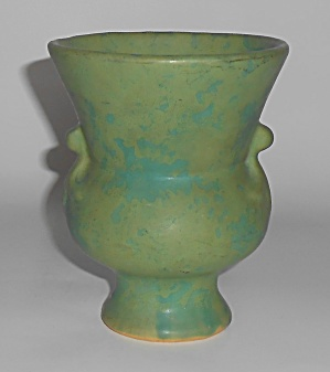 Weller Art Pottery Early Mottled Green Vase