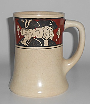 Roseville Pottery Creamware Colonial Smoking Men Mug