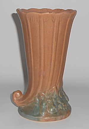 Nelson Mccoy Art Pottery Tan/green #15 Leaves/berries 8