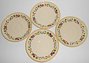 Franciscan Pottery Small Fruit Set/4 Saucers (Image1)