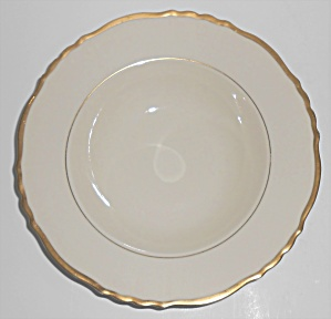 Syracuse China Old Ivory Federal Brantley W/gold Rimmed