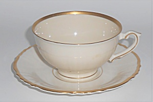 Syracuse China Old Ivory Federal Brantley Cup & Saucer