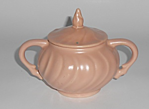 Franciscan Pottery Coronado Satin Coral Sugar Bowl