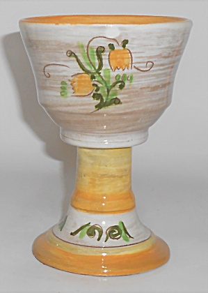 Stangl Pottery Yellow Tulip Terra Rose Goblet #3 (Image1)