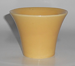 Bauer Pottery 3'' Yellow Spanish Flower Pot