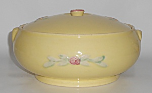 Coors Pottery Rosebud Early Yellow French Casserole