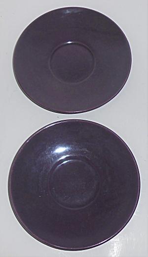 Franciscan Pottery El Patio Pair Grape Saucers (Image1)