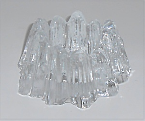 Nybro Art Glass Rune Strand Sweden Candle Stick Holder