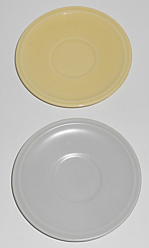 Franciscan Pottery Montecito Pair Demitasse Saucers