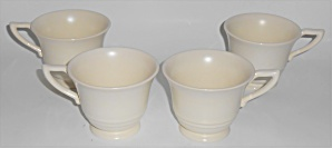 Franciscan Pottery Montecito Satin Ivory Set/4 Cups