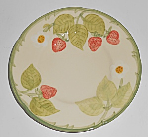 Franciscan Pottery Strawberry Fair Bread Plate