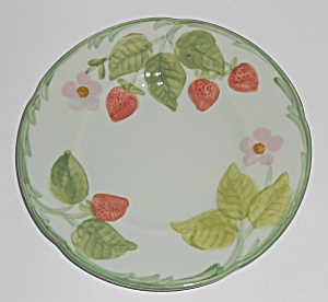 Franciscan Pottery Strawberry Time Bread Plate