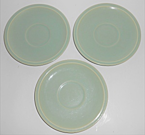 Franciscan Pottery Montecito Gloss Celadon 3 Saucers