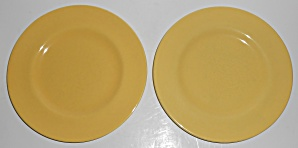 Metlox Pottery Poppy Trail Series 200 Gloss Yellow Pair