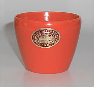 Franciscan Pottery Sperry Flour Flame Orange Sauce Jar