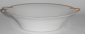 Noritake Porcelain China Gold Bands Vegetable Bowl