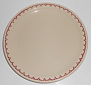 Syracuse Restaurant Ware China Red Scalloped Lunch Pl