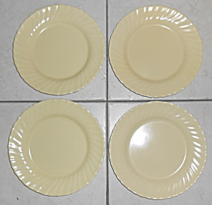 Franciscan Pottery Coronado Satin Yellow Lunch Plate