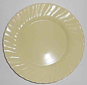 Franciscan Pottery Coronado Satin Yellow Dinner Plate