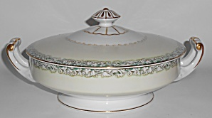 Noritake China White Rose W/gold Mystery Covered Veg