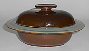 Zanesville Stoneware Pottery Country Fare Oval Ind