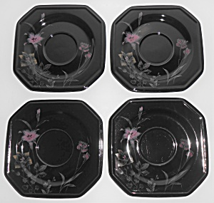 Mikasa China Ebony Garden Meadow Set/4 Saucers