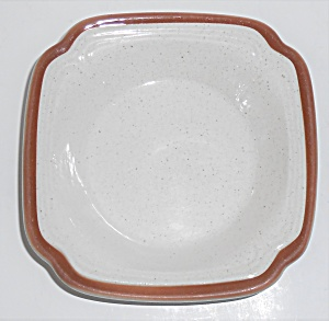 Syracuse China Restaurant Ware Square Brown Band Cereal