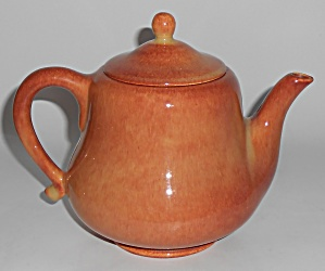 Franciscan Pottery El Patio Golden Glow #33 Teapot w/Li (Image1)