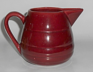 Bauer Pottery Gloss Pastel Kitchenware Burgundy Pitcher