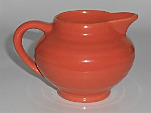 Bauer Pottery Ring Ware Orange Demitasse Creamer