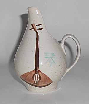Red Wing Pottery Lute Song Creamer