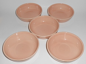 Franciscan Pottery Reflections Peach Set/5 Fruit Bowls (Image1)
