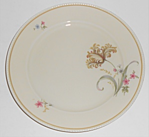 Tirschenreuth Porcelain China Floral Bread Plate W/gold